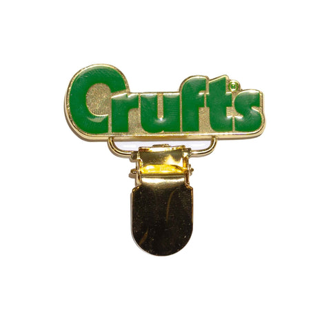 Crufts Number Badge Holder - Gold