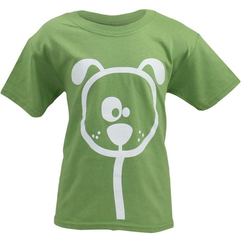 Children's Green Dog Cartoon T-Shirt - Crufts and Kennel Club Gifts