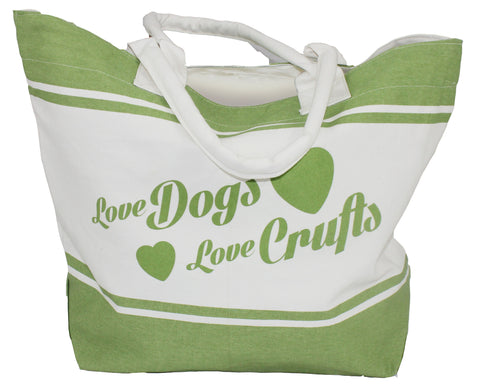 Love Dogs, Love Crufts Beach Bag - Crufts and Kennel Club Gifts