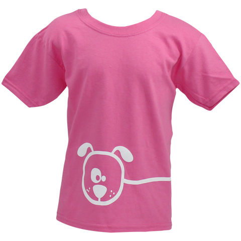 Children's Pink Dog Cartoon T-Shirt - Crufts and Kennel Club Gifts