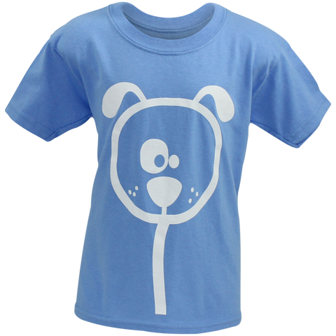 Children's Blue Dog Cartoon T-Shirt - Crufts and Kennel Club Gifts