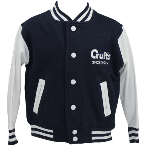 Children's Navy and White Varsity Jacket - Crufts and Kennel Club Gifts