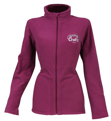 2016 Ladies Heather Pink Qualified Fleece - Crufts and Kennel Club Gifts