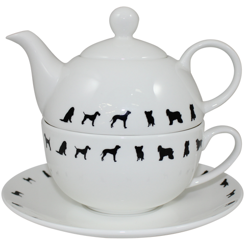 Tea For One Teapot and Cup - Crufts and Kennel Club Gifts