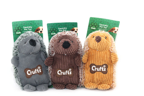 Squeaky Crufts Hedgehog Toy