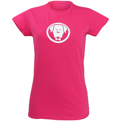 Women's Charlie Pink T-Shirt - Crufts and Kennel Club Gifts