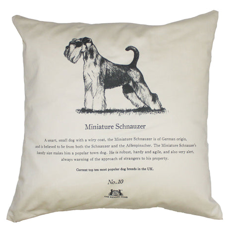 Miniature Schnauzer Cushion - Crufts and Kennel Club Gifts