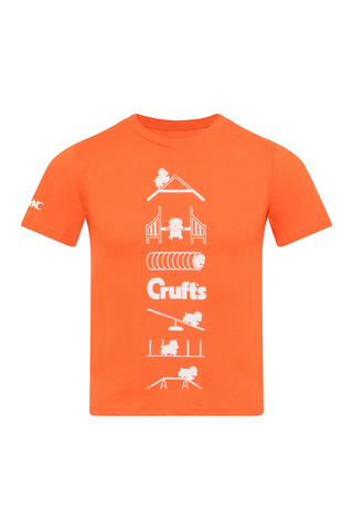 Kids Crufts & YKC Agility Course T-shirt - Orange