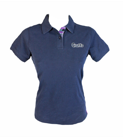 Crufts Navy Polo Shirt (Womans)