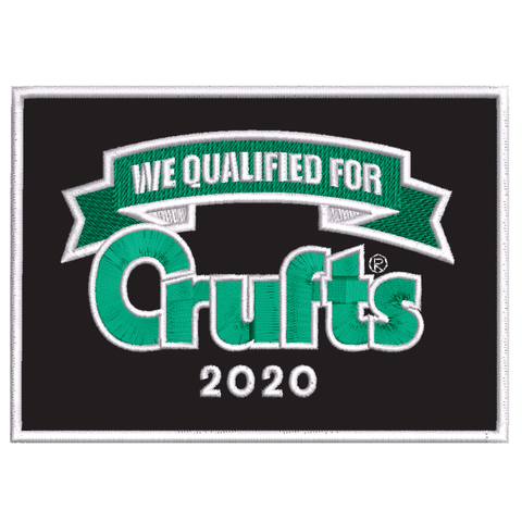 2020 We Qualified For Crufts Sew On Badge