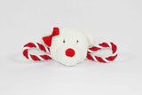 Squeaky Christmas Polar Bear Tug Toy