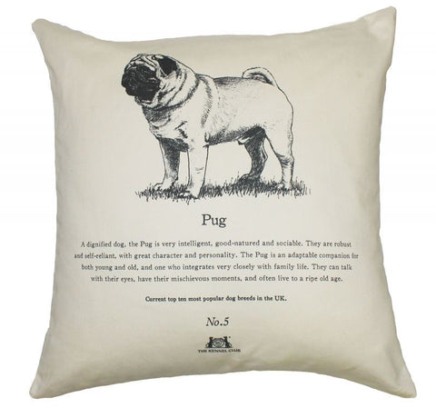 Pug Cushion - Crufts and Kennel Club Gifts