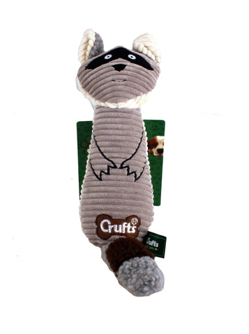 Squeaky Crufts Racoon Toy - Crufts and Kennel Club Gifts