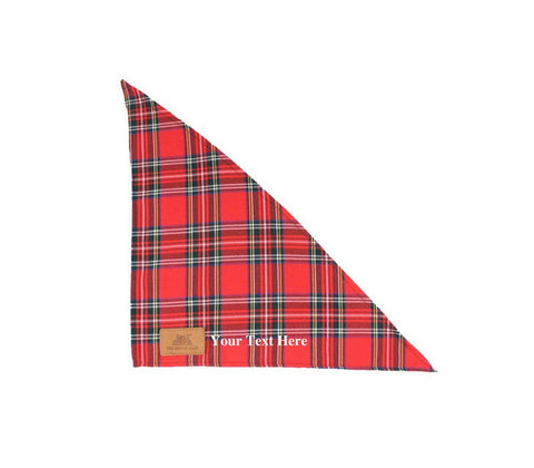 Personalised Red Dog Tartan Bandanna