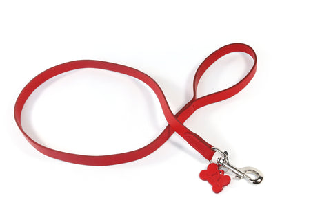 Red Leather Kennel Club Dog Lead