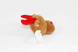 Rudolf the Reindeer Squeaky Christmas Dog Tug Toy Side View