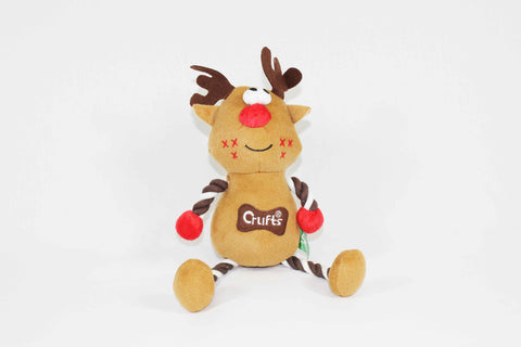 Squeaky Crufts Christmas Reindeer Dog Toy
