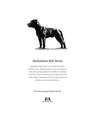Staffordshire Bull Terrier Tea Towel
