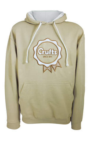 Crufts Rosette Hoodie - Sand with Vanilla