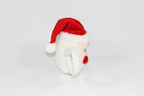 Christmas Santa Squeaky Dog Tug Toy Side View