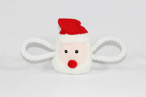Christmas Santa Squeaky Dog Tug Toy