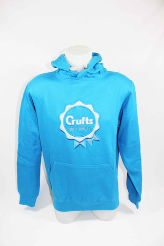Sapphire and Grey Crufts Rosette Hoodie