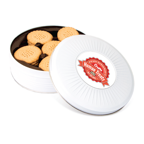 Human Treats Circle Tin Shortbread