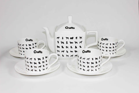 Bone China Crufts Silhouette Tea Set - Crufts and Kennel Club Gifts
