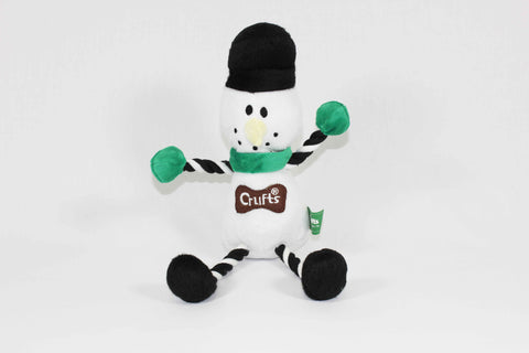 Squeaky Crufts Christmas Snowman Dog Toy