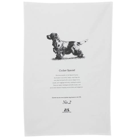 Cocker Spaniel Tea Towel - Crufts and Kennel Club Gifts