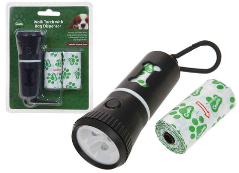 Crufts Walk Torch with Bag Dispenser