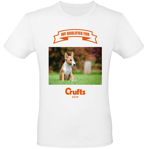 2019 We Qualified For Crufts Unisex Personalised T-Shirt