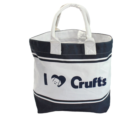 Navy I Love Crufts Tote Bag