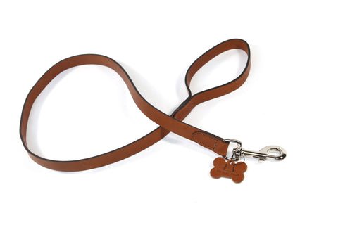 Hand Made Tan Leather Kennel Club Dog Lead