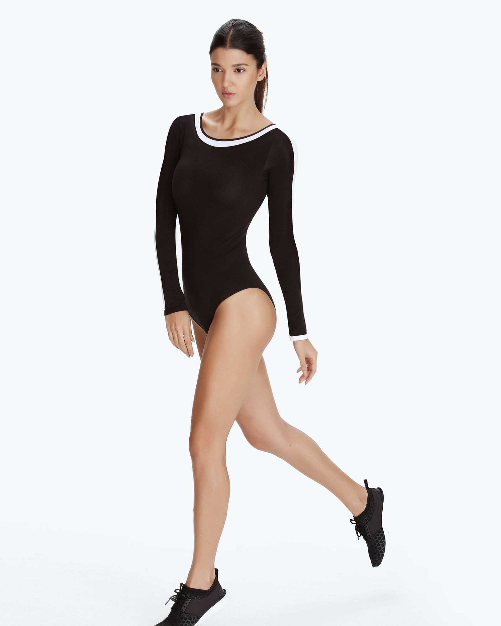 Long Sleeve Leotard - Black - Vaara