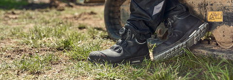 The Work Shoes That Get Everything Done |  Supreme Comfort | Excellent for those on their feet all day | Walk On Air With WELLMAXX Insole | Premium Leather | BOA Closing System | 1 YEAR PRODUCT WARRANTY | Made In Germany