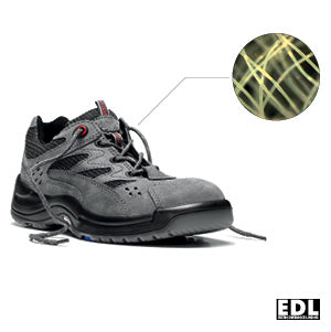breathable material for safety shoes and work boots + no sweaty feet + effective moisture transfer out of the shoes + foot climate + wearing comfort + elten + stitchkraft