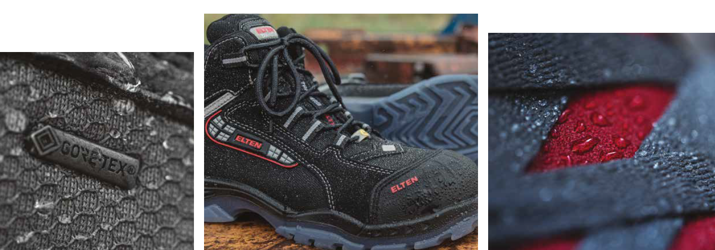 Gore-Tex + Comfort + Breathable + Waterproof + Safety Shoes + Safety Boots + Work Boots + Weatherproof + Durable