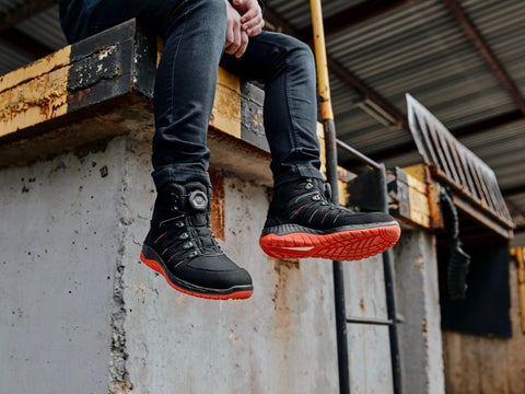 Premium Work Shoes and Safety Boots - Steel Toe Cap & Composite Toe Cap Options. Vegan Friendly Boot. Non-leather and Genuine Leather Work Boots. Light and Comfortable Safety Footwear.