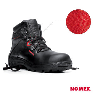 nomex + etlen + fire-resistant safety shoes and work boots + durable + tough + heat-resistant