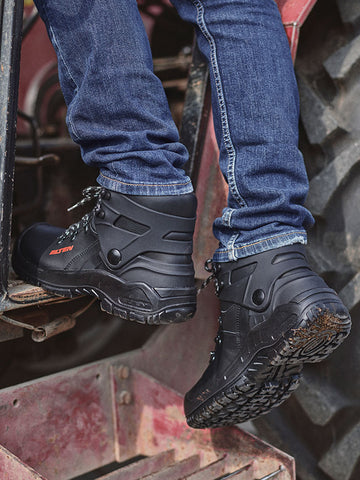 + biomex + ankle protection + work boots + safety shoes + injury prevention + Elten + stitchkraft