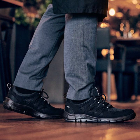 Work shoes meet stylish work sneakers for Kitchen, Hospitality & Healthcare. Certified slip-resistance. Ultra-Lightweight Work Shoes.