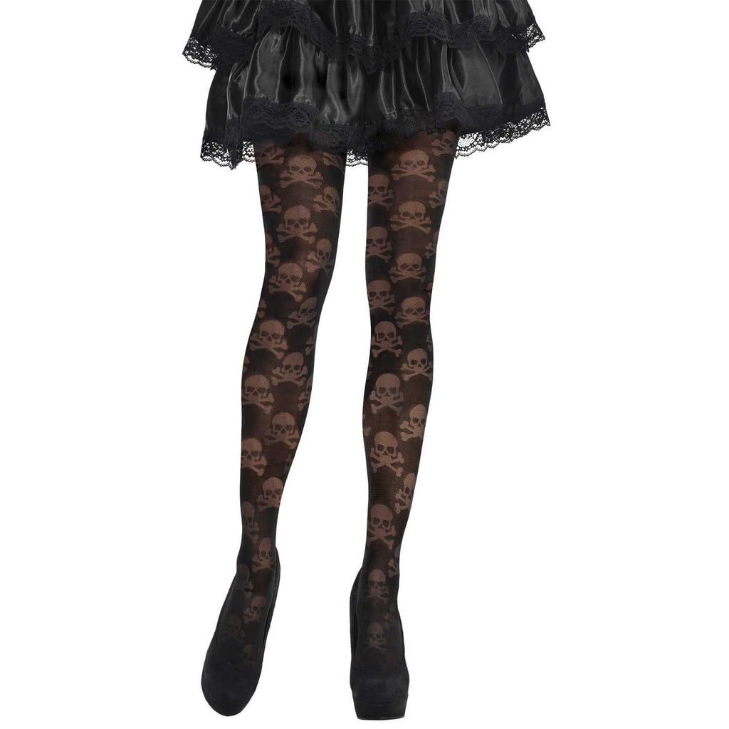 Pirate Skull & Crossbone Fancy Dress Tights
