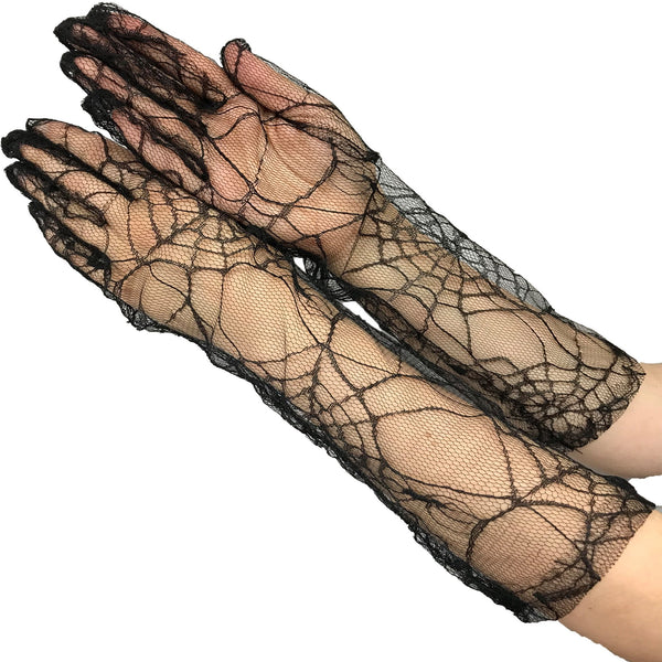 Spider Web Lace Gloves