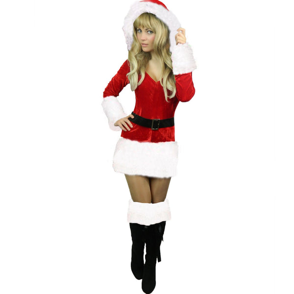 Ladies White Santa Sexy Christmas Costume
