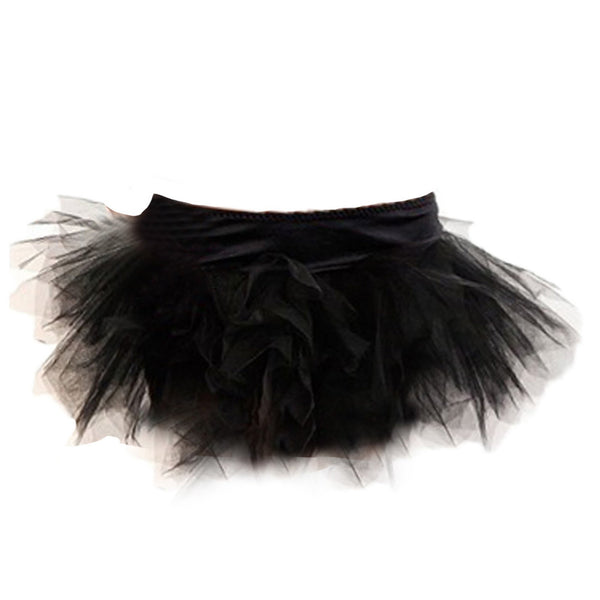 Ladies Black Plus Size Burlesque Tutu Skirt