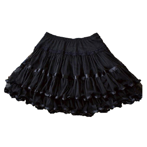 Black Swing Ladies Plus Size Vintage Swing Skirt