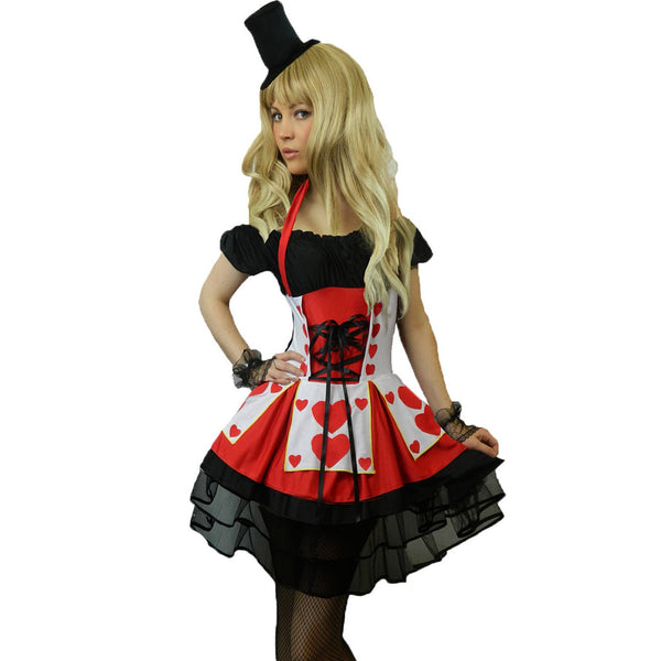 Ladies Adult Heartbreaker Queen Costume + Gloves