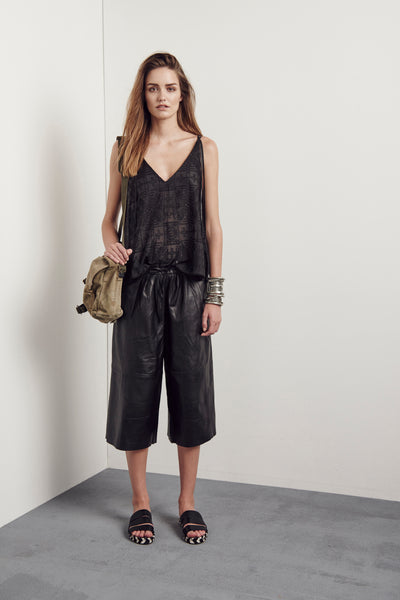EMMANUELLE CULOTTES BLACK LEATHER
