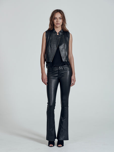 Thompson Gilet in embossed leather